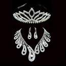 Crystal Earring Necklace Tiara Set Wedding Bridal Jewelry Collec