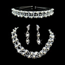 Spring Crystal Earring Necklace Tiara Set Wedding Bridal Jewelry Collection