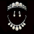 Elegant Crystal Earring Necklace Tiara Set Wedding Bridal Jewelr