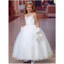 Cute Beaded Appliques Spaghetti Straps White Tulle First Holy Communion Dresses with Jacket