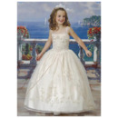 Pretty Princess Ball Gown Spaghetti Straps Appliques Organza First Communion Dresses with Jacket