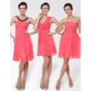 Chic and Discount Empire Short/ Mini Chiffon Bridesmaid Dresses for Summer