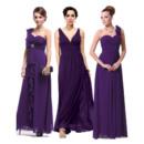 New Style Stylish Long Pleated Chiffon Bridesmaid Dresses/ Beautiful Discount Wedding Party Dresses