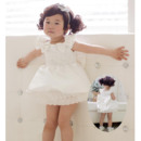 Inexpensive Ball Gown Short Satin Flower Girl Dresses/Toddler Girls Dresses with Lace Beaded