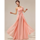 Attractive Asymmetric Chiffon Floor Length Sheath Bridesmaid Dresses