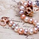 Affordable Multicolor 8.5 - 9.5mm Freshwater Off-Round Bridal Pearl Bracelet