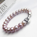 White/ Pink/ Purple/ Multicolor 7.5 - 8.5mm Freshwater Off-Round Pearl Bracelet