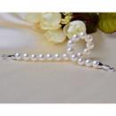 Elegant White 8 - 9mm Freshwater Round Bridal Pearl Bracelets