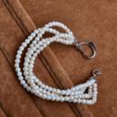 Elegant White 3mm Freshwater Off-Round Bridal Pearl Bracelets