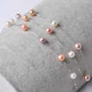 Multicolor 8mm Freshwater Off-Round Bridal Pearl Bracelet and Necklace