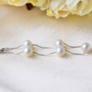 White 8mm Freshwater Round Bridal Pearl Bracelet and Necklace Set