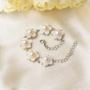 White 6-7mm Freshwater Natural Off-Round Bridal Pearl Bracelets