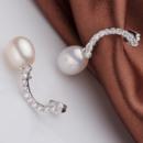 White 9 - 9.5mm Freshwater Drop Bridal Pearl Earring Set