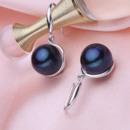 White/ Pink/ Purple/ Black 9.5 - 10.5mm Freshwater Pearl Earring Set