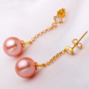 Discount Pink/ White 8 - 9mm Freshwater Round Pearl Earring Set