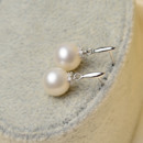 Cute White 8.5-9mm Round Freshwater Natural Pearl Earring Set