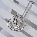 Elegant White 11 - 12mm Off-Round Freshwater Natural Pearl Pendants