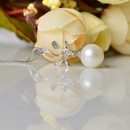 Stunning White Round 8 - 11mm Freshwater Natural Pearl Pendants