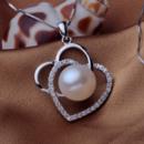 Elegant White Round 10.5-11mm Freshwater Natural Pearl Pendants