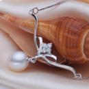 Stunning White Drop 8.5-9.5mm Freshwater Natural Pearl Pendants