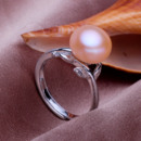 White/ Pink/ Purple 9.5 - 10.5mm Freshwater Off-Round Pearl Ring