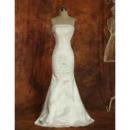 Exquisitely Mermaid Strapless Appliques Satin Floor Length Wedding Dresses