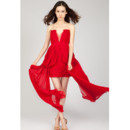 Gorgeous Sweetheart Chiffon Sheath/ Column Short Homecoming Dresses