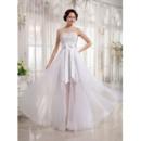 Modern Beaded Appliques Sheath Sweetheart Wedding Dress with Overlay Organza Skirt