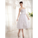 3D Flowers Detail Wedding Dresses