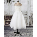 Perfect Sweetheart Reception Wedding Dresses with Layered Organza Skirt