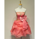 Affordable Strapless Short Taffeta Homecoming/ Party Dresses