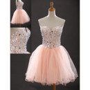 Inexpensive Sexy Sweetheart Short Organza Homecoming/ Party Dresses