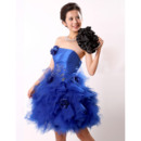 Royal Ball Gown Strapless Short Homecoming/ Party/ Cocktail Dresses