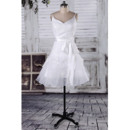 Pretty A-Line V-neckline and Scoop Back Lace Appliques Wedding Dresses