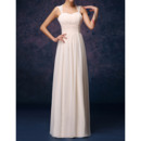 Stylish Column/ Sheath Straps Long Chiffon Bridesmaid Dresses with Open Back