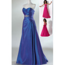 Elegant Sweetheart Sleeveless Floor Length Taffeta Prom Evening Dresses