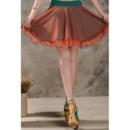 Sexy Rainbow Multi-Colored Organza Mini Skirts/ Wedding Petticoats