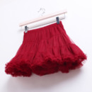 Cute A-Line Red Tulle Mini Skirts with Ruffle for Girls