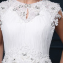 Pleated Bust And Skirt Wedding Dresses
