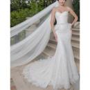 Modern Mermaid Sweetheart Sleeveless Lace Wedding Dresses with Peplum