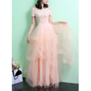 A-line Tulle Evening Dresses