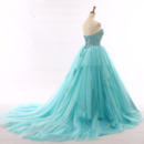 Lace-up Tulle Evening Dresses
