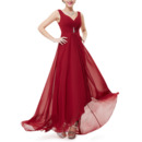 Discount Sweetheart High-Low Chiffon Bridesmaid Dresses with Straps