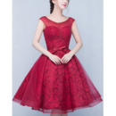 New Style A-Line Short Lace Organza Homecoming Dresses