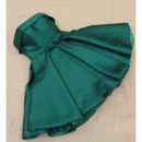 A-Line Strapless Short Satin Homecoming/ Party Dresses