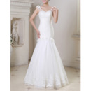 Romantic and Gorgeous All Over Beading Tulle Wedding Dresses with Mermaid Skirt