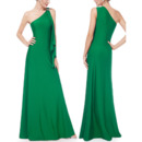 Elegant One Shoulder Floor Length Satin Formal Evening Dresses