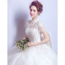 Court Train Tulle Wedding Dresses