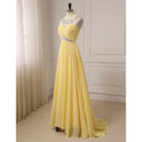 Ruched Bust Chiffon Evening Dresses