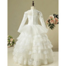 Beaded Appliques First Communion Dresses